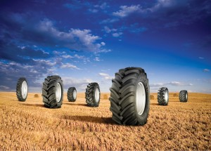 Various tyres of tractor tyres